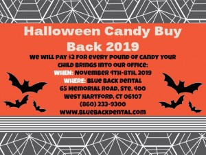 2019 Halloween Candy Buy Back at Blue Back Dental